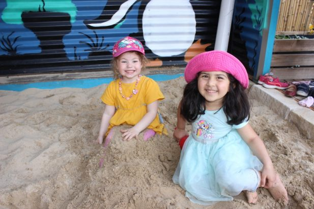 Children playing in Sandpit at Port Kembla Community Preschool